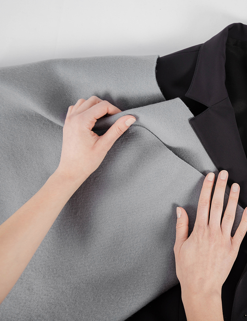 Choice of gray fabric for suit